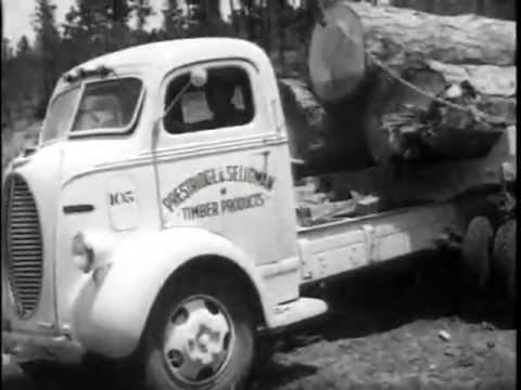 Big Ford Trucks >> Old Ford Logging Trucks 1940s - YouTube