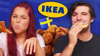 trying food from ikea