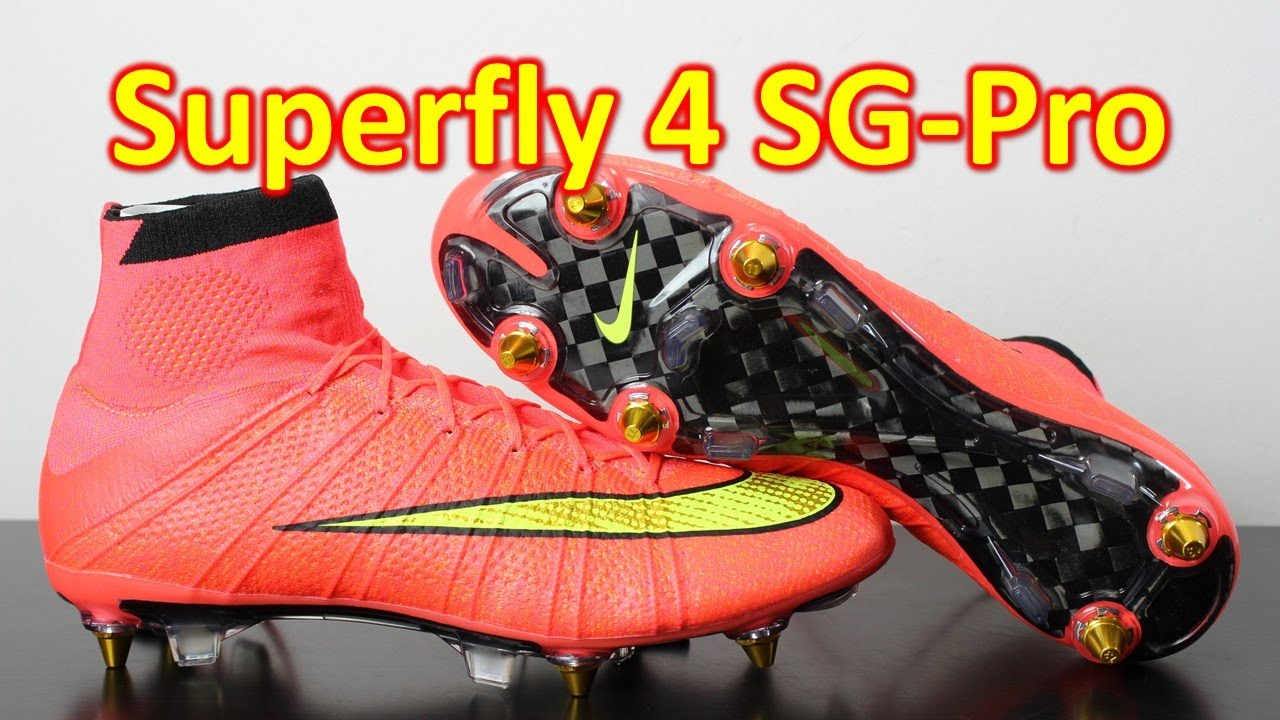 Nike Mercurial Superfly 4 SG-PRO Hyper Punch - Unboxing + On Feet ... c50a0b5d00800