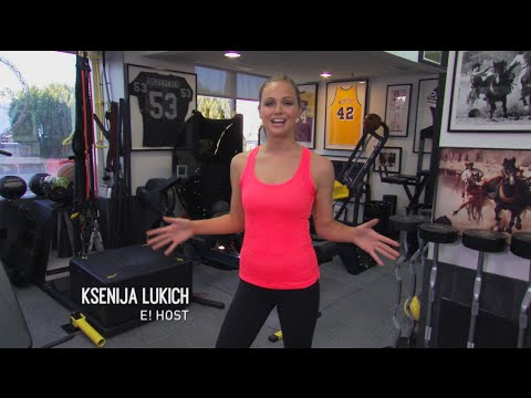E! Australia Ksenija Arm workout with Gunnar Peterson