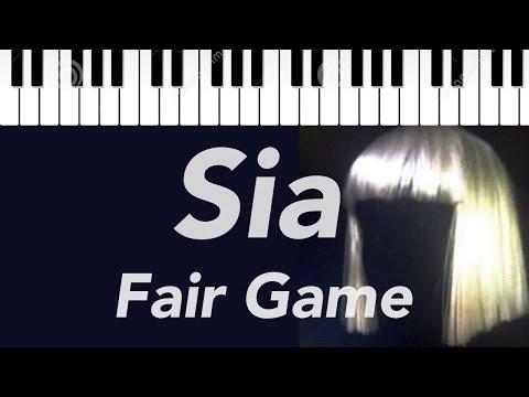 Sia | Fair Game | Piano Cover with Lyrics