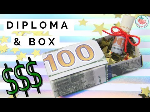 Dollar Origami - How To Fold Dollar Bills Into A Box - Sliding Lid & Diploma Money Origami