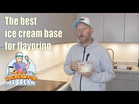 How To Make Ice Cream Base For Flavoring