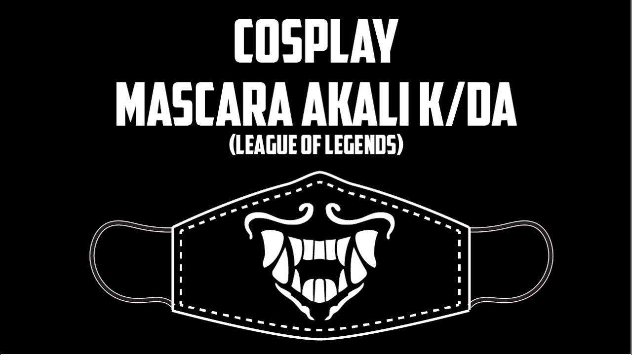 Tutorial De Cosplay Mascara Da Akali K Da League Of Legends Youtube
