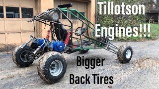 long travel full independent suspension dual engine  go kart part 6