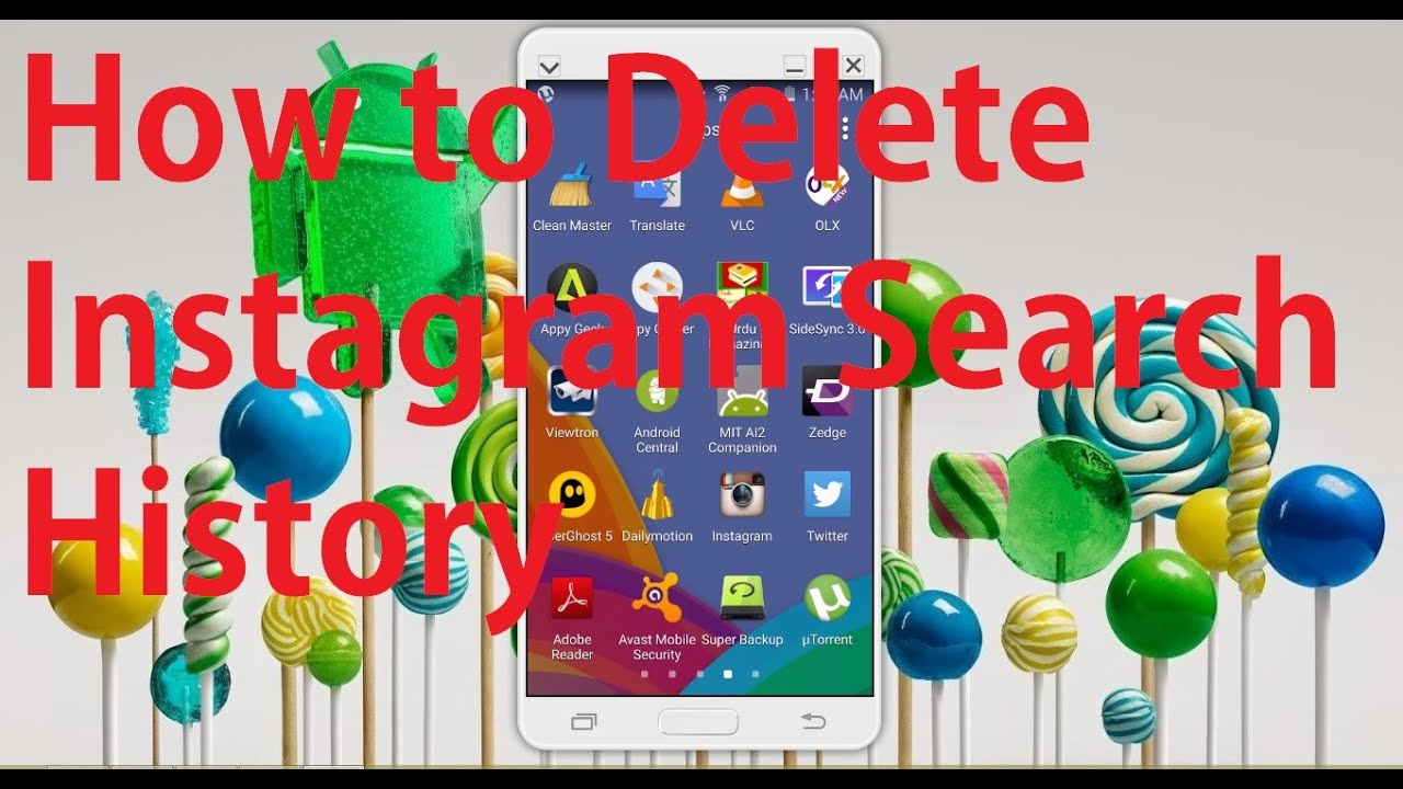 Delete Instagram Search History On Android Phone Update 2015