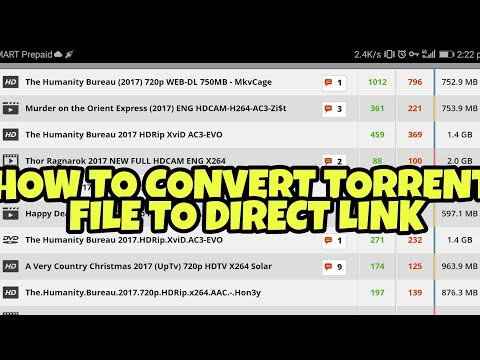 HOW TO CONVERT TORRENT MOVIES TO DIRECT LINK