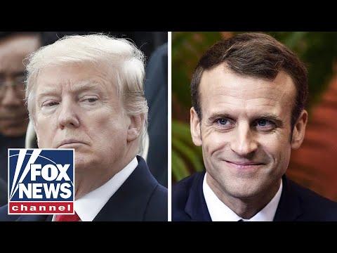 Trump tweetstorm targets Macron over nationalism rebuke