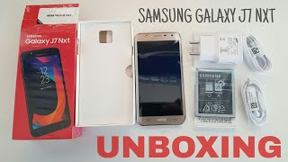 Samsung Galaxy J7 Nxt Unboxing, hands on black and gold, review