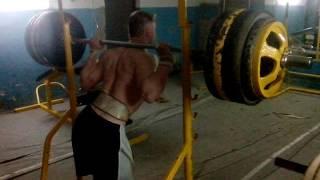 Ходьба со штангой 220kg | 80kg