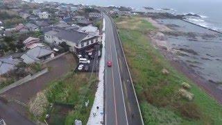 ドローン自動追尾でドライブ空撮01-DJI Phantom 4