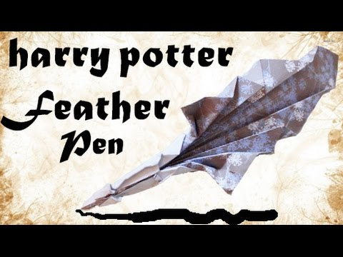 Harry Potter feather pen - Origami DIY