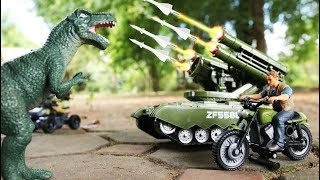 Dinosaurs vs Army Toys! | Tank Toys |  Military Vehicle Toys! | Collection of Toy Soldiers
