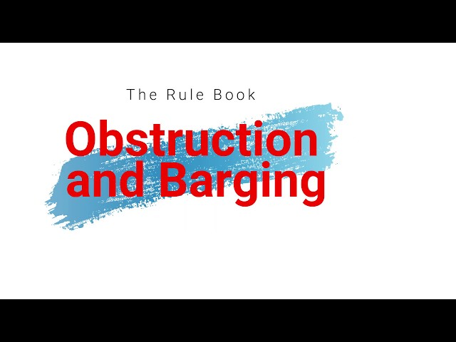 Obstruction and Barging