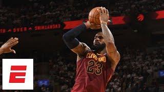 LeBron James hits 6 ridiculous 4th-quarter fadeaways as he dismantles Raptors in Game 2 | ESPN