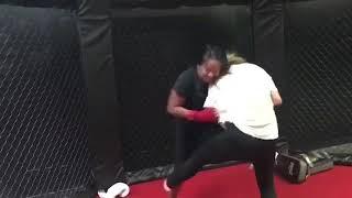 Woman selfdefense class BJJ