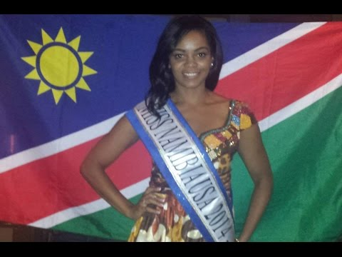 Miss Namibia at the Miss Africa USA 2014
