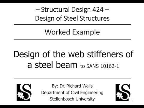 Steel Design - Bending/Shear - Design of web stiffeners - SD424
