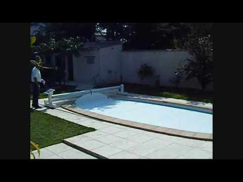 Volet de piscine mobile hors sol mobil 39 o youtube for Piscine sol mobile
