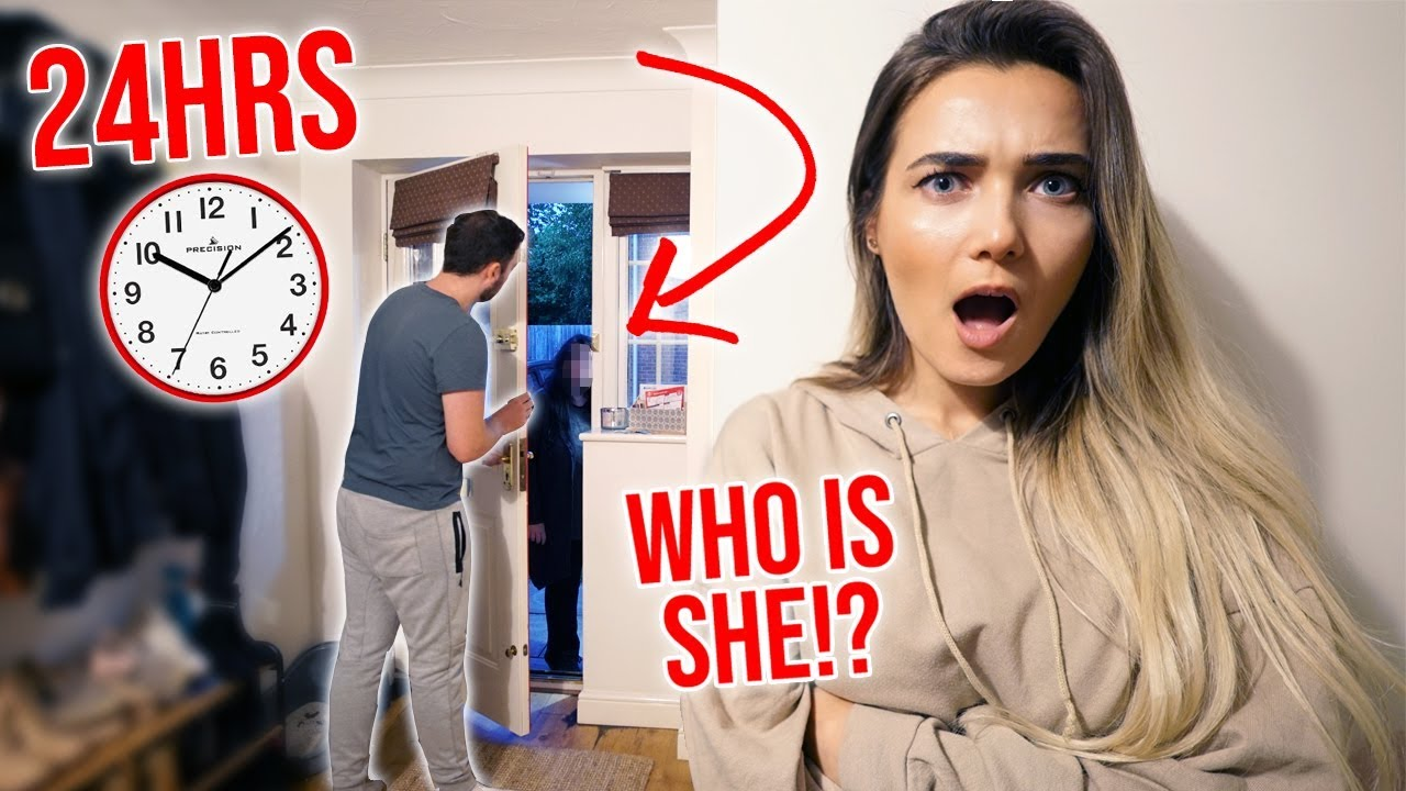 I Spent The Night In My Boyfriends House & He Had No Idea... (24 Hour Challenge) #1