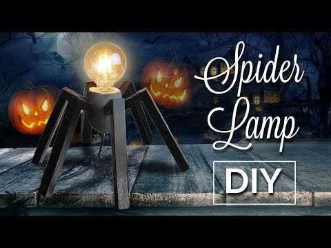 Spider lamp  🕷from Wood & Concrete DIY 🕷🕷🕷🕷🕷