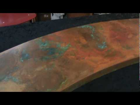 The Finished Copper Patina Countertop By Rachiele See