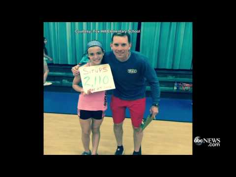 Girl Does 2,110 Sit Ups SMASHING the National Record