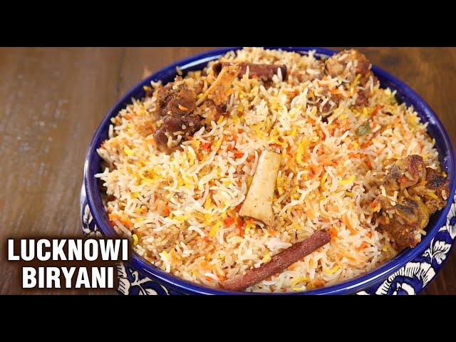 Lucknowi Mutton Biryani | Goat Meat Biryani Recipe | Dum Biryani | Biryani Recipe By Varun Inamdar
