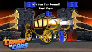 Hidden Car on Castle Map Found: Royal Wagon 🎮 Crash of Cars #50