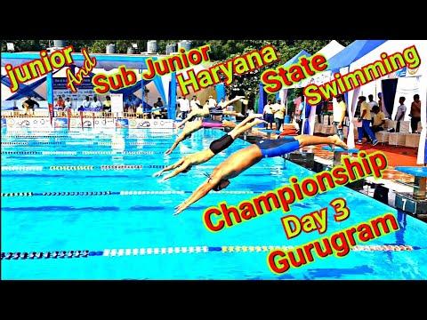 Haryana State Swimming Championship 2019 (Gurugram) Day 3🏊♂️