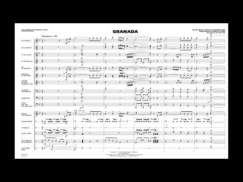 Granada arranged by Jay Bocook