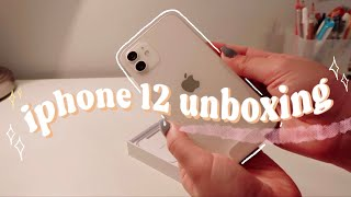 [unboxing]  iPhone 12 + accessories!! 🍥