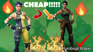 "TOP 5 ""CHEAP/UNCOMMON SKINS"" IN FORTNITE!!!!"
