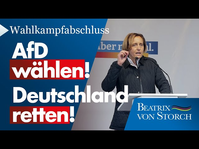 Beatrix von Storch (AfD) - Rede Wahlkampfabschluss 2021 - AfD wählen, Deutschland retten!