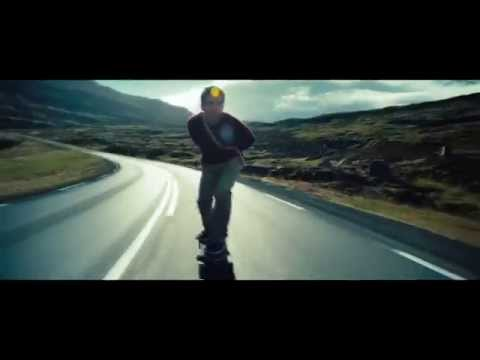 Walter Mitty - Downhill Longboard at Iceland