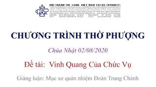 HTTL KINGSGROVE (Úc Châu) - Chương trình thờ phượng Chúa - 02/08/2020