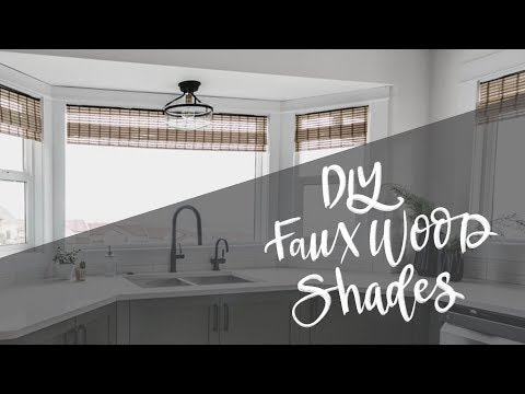 DIY Woven Wood Window Shades Hack | Faux Bamboo Blinds