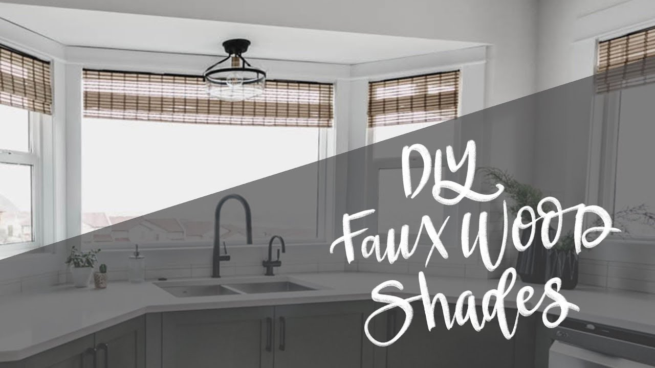 Diy Woven Wood Window Shades Hack Faux Bamboo Blinds Youtube