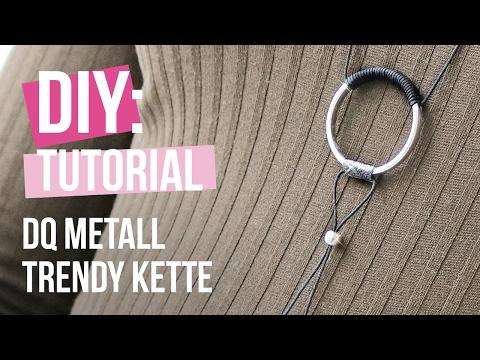 DIY TUTORIAL: Trendy Kette mit Ring aus DQ Metall – Selbst Schmuck machen