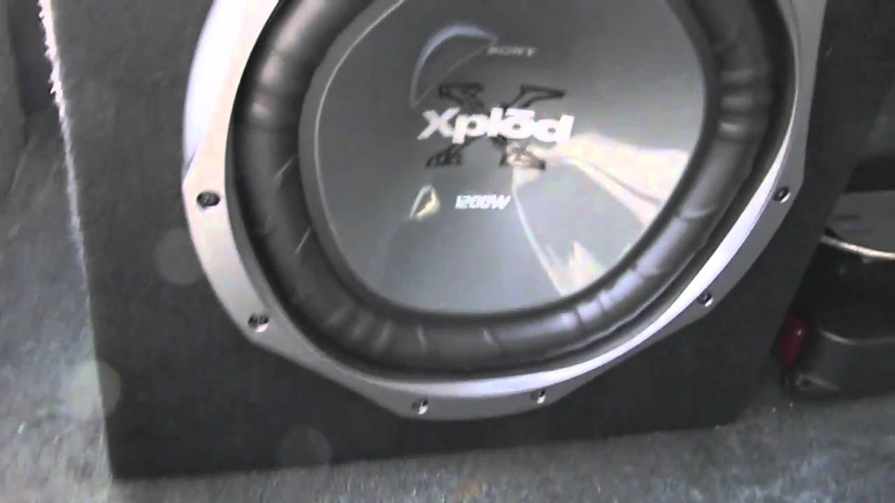 Sony Xplod Not Working 4l80e External Wiring Diagram 12 Inch Subwoofer 1200 Watts And 760 Watt Pioneer Amplifier - Youtube
