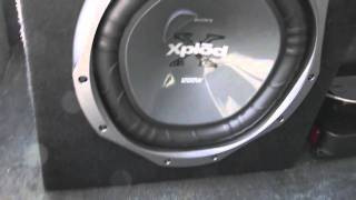 12 inch sony xplod subwoofer 1200 watts and 760 watt pioneer amplifier