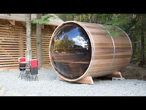 Colin & Justin's inspiring, perfect lakeside sauna
