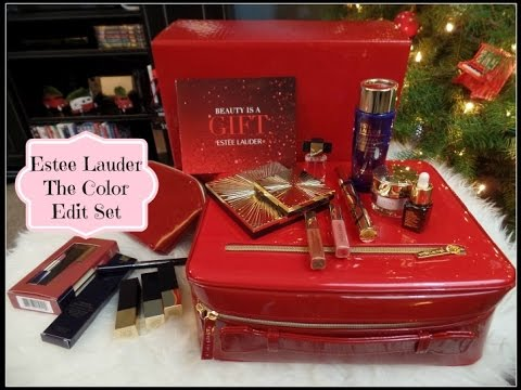 estee lauder holiday 2015 the color edit gift set unboxing