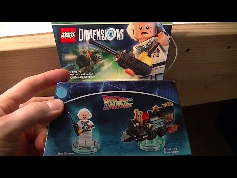 LEGO DIMENSIONS BACK TO THE FUTURE DOC BROWN And TRAVELING TIME TRAIN UNBOXING AND BUILD