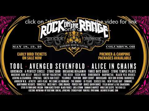 2018 'Rock On The Range' bands announced Tool/A7X/Stone Sour/Emmure and more!