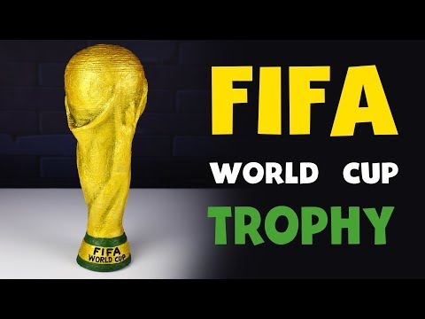 How To Make FIFA World Cup Trophy Replica 🏆