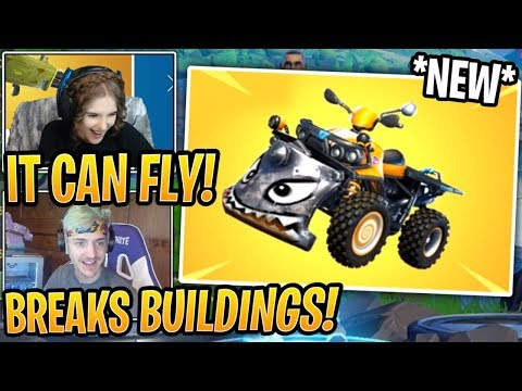 Streamers React to *NEW* Quad Crasher Vehicle! Fortnite Best and Funny Moments