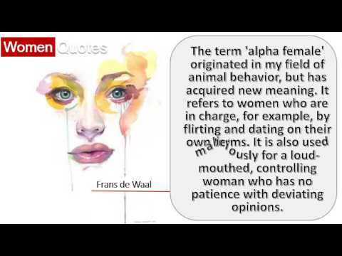 Best Women Quotes By Frans de Waal - The term \'alpha female ...