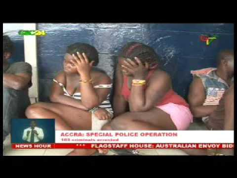 Police arrest 103 suspected armed robbers in Accra