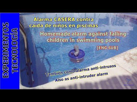 Alarma CASERA contra caída de niños en piscinas. #TupperElectrónica